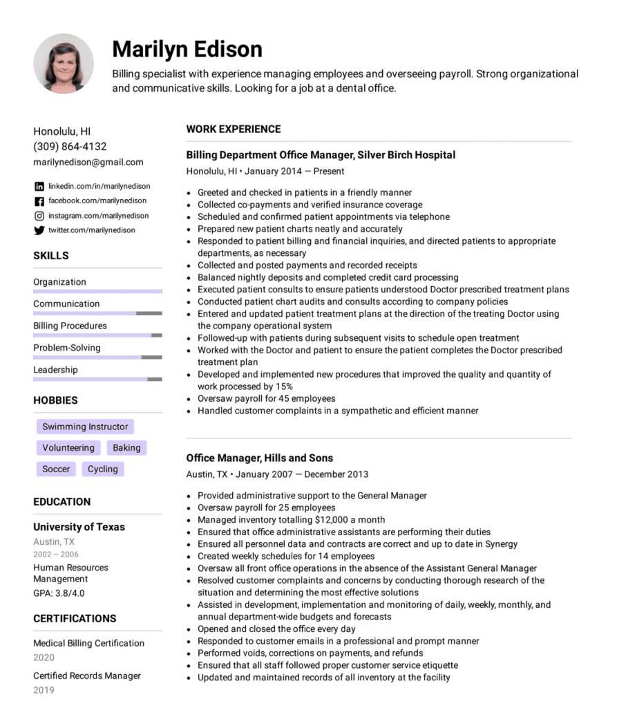 How to make a resume - Reverse-chronological Resume Format