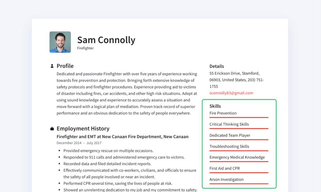 How to make a resume - skills