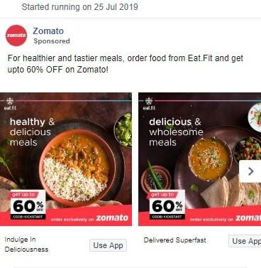 Zomato Marketing Strategy Facebook Ads