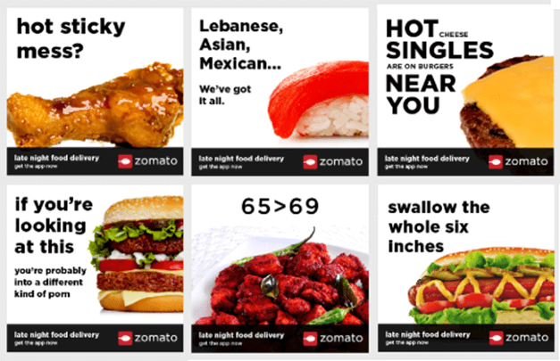 Zomato Marketing Strategy Sarcastic Content