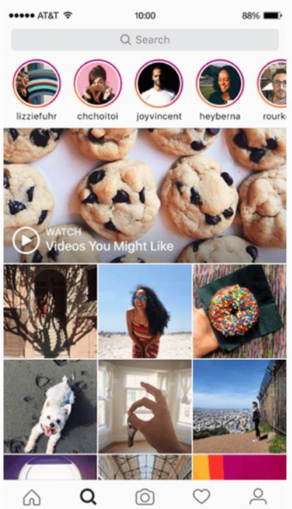 Instagram vs Snapchat - Insta search