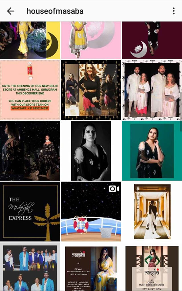 Indian Fashion Designers on Instagram House of Masaba
