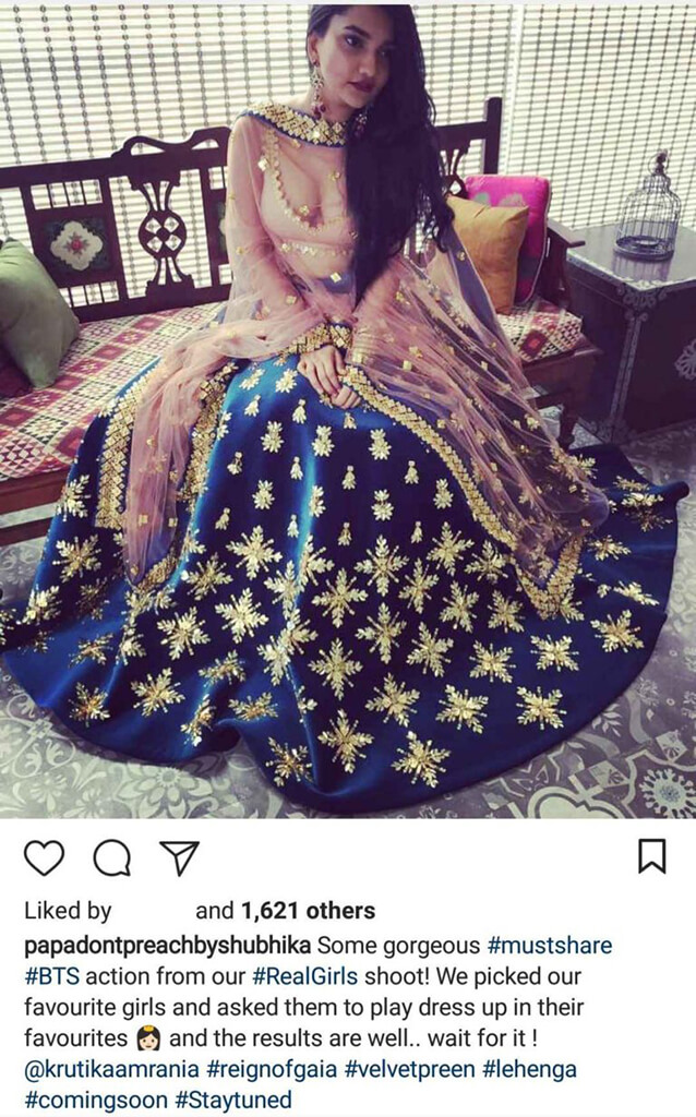 Indian Fashion Designers on Instagram Papa Dont Preach by Shubhika