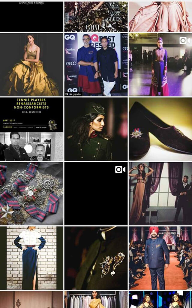 Indian Fashion Designers on Instagram Shantanu & Nikhil