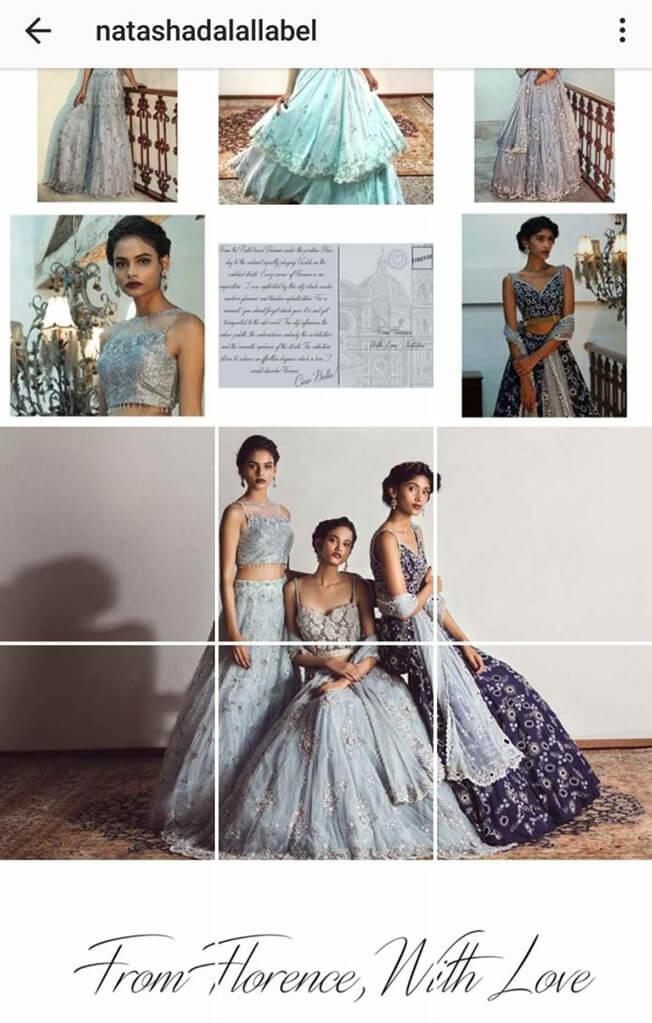 Indian Fashion Designers on Instagram natashadalallabel