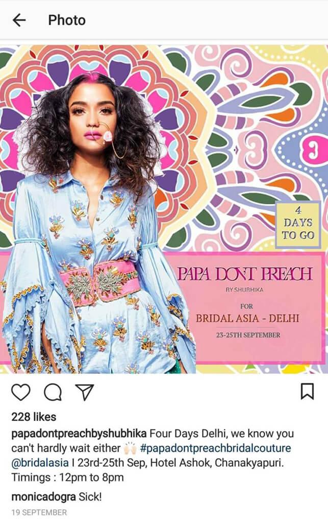 Indian Fashion Designers on Instagram papadontpreachbyshubika