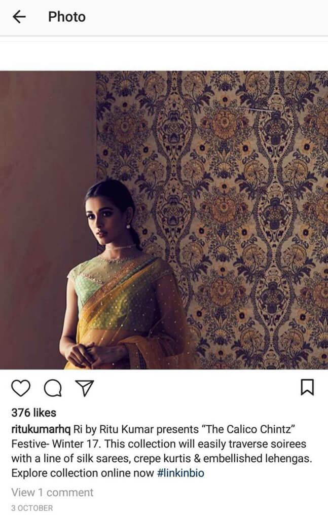 Indian Fashion Designers on Instagram ritukumarhq