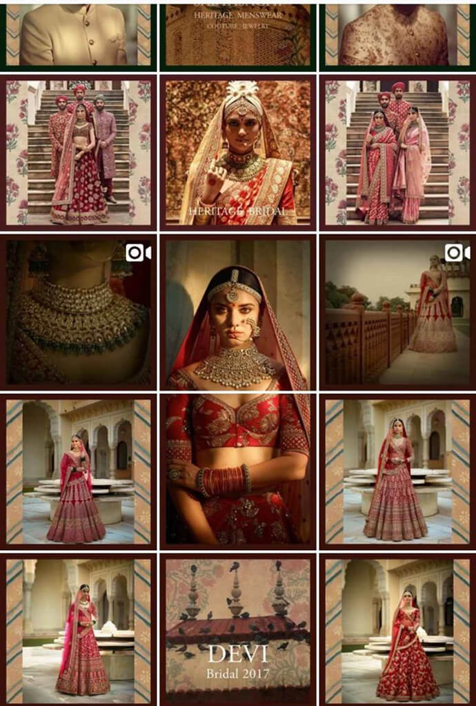 Indian Fashion Designers on Instagram sabyasachiofficial