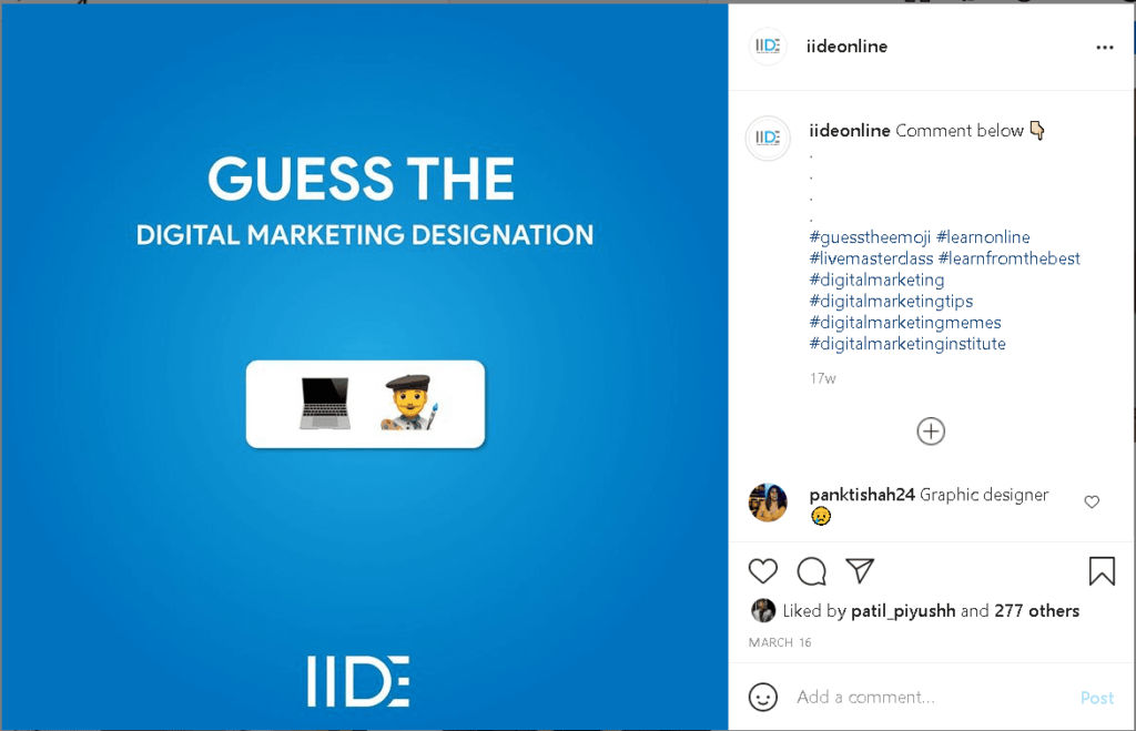 Instagram Business Account - Hashtags