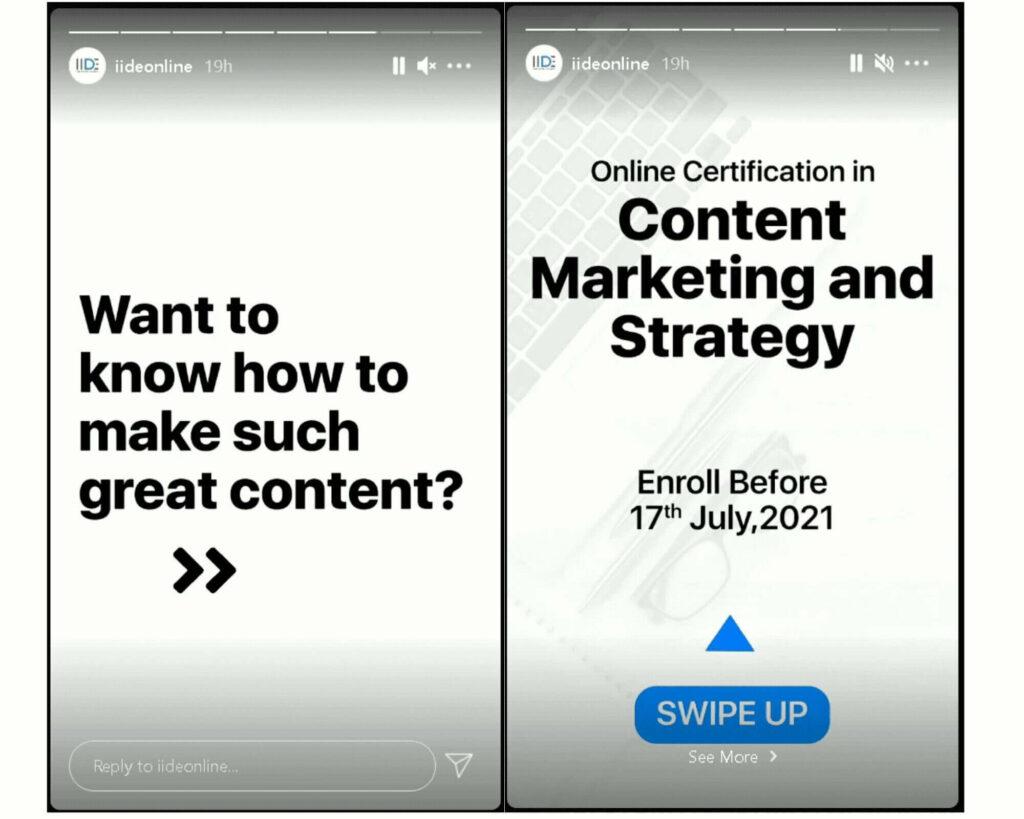 Instagram Business account - Stories
