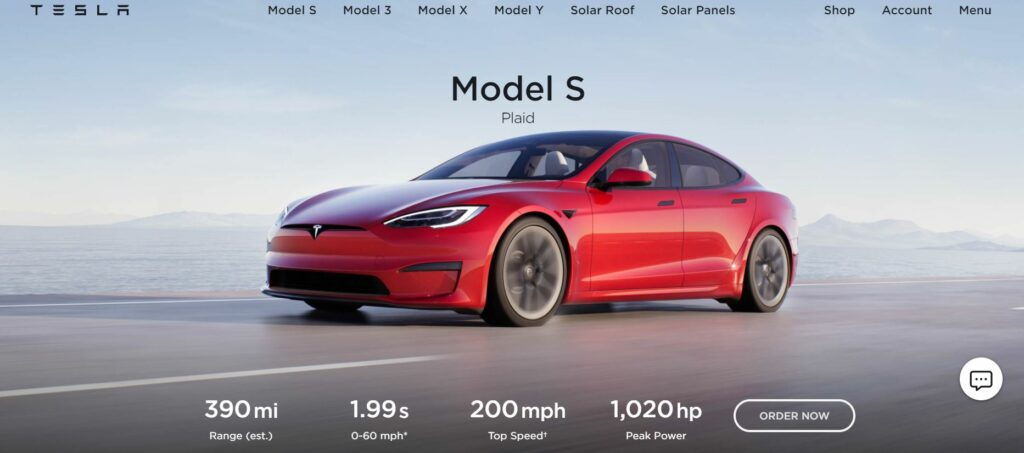digital transformation in the automotive industry - tesla model features