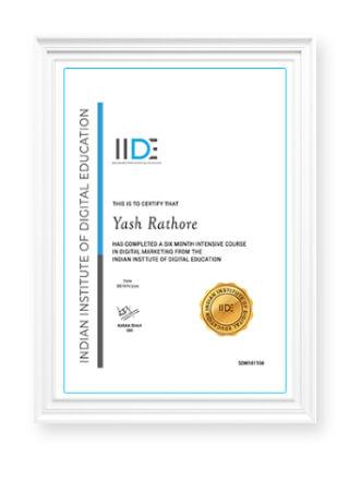 Digital Marketing Online Course IIDE Certificate