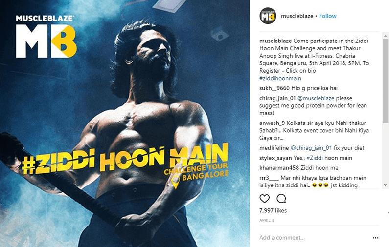 Muscleblaze Marketing Campaign Ziddi Hoon Main