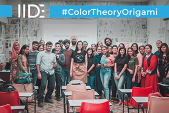 IIDE-Colour Theory Using Origami Meetup
