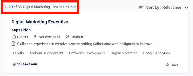 Digital Makreting Jobs in Udaipur - Digital Marketing Jobs in Udaipur