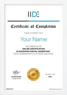 Online Digital Marketing Training Certificate