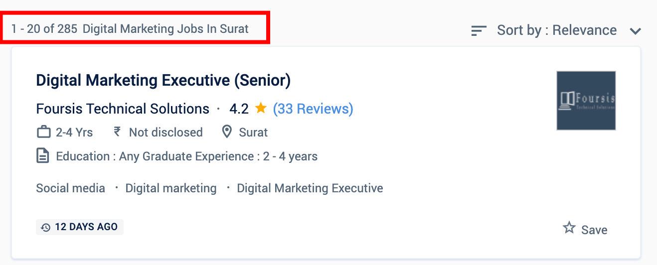 Digital marketing jobs in Surat - Digital marketing courses in Surat