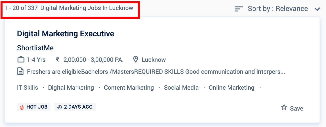 Digital marketing jobs in Lucknow