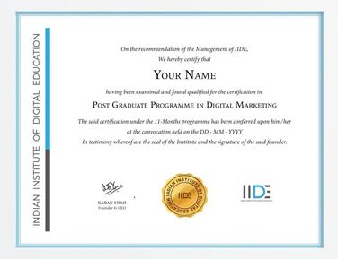 MBA in Digital Marketing Certificate