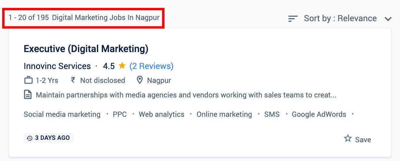Digital marketing jobs in Nagpur