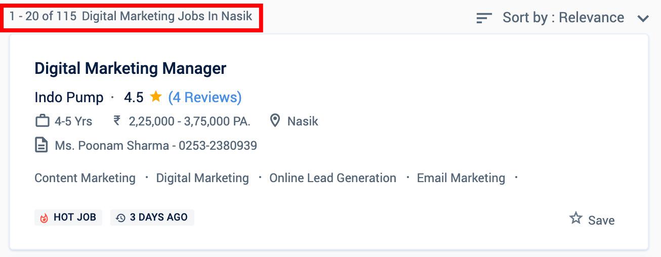 Digital marketing jobs in Nashik