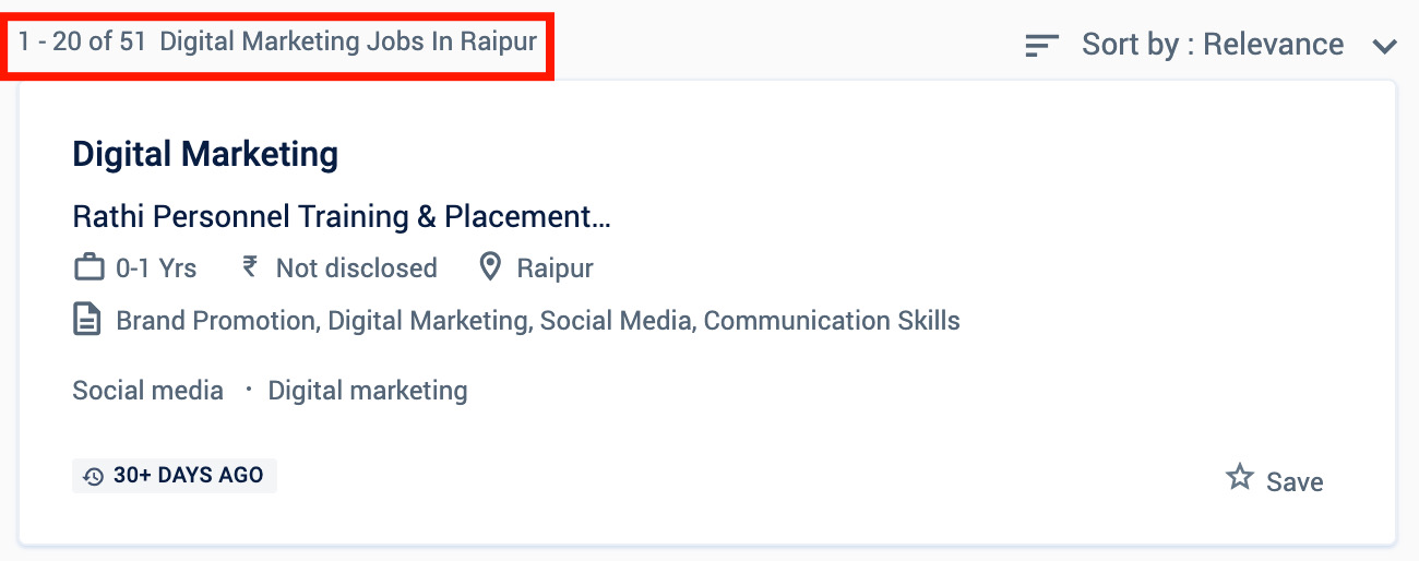 Digital marketing jobs in Raipur