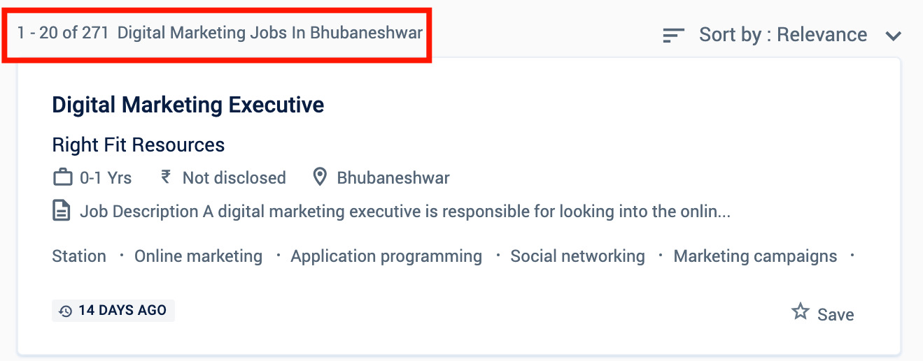 Digital marketing jobs in Bhubaneswar
