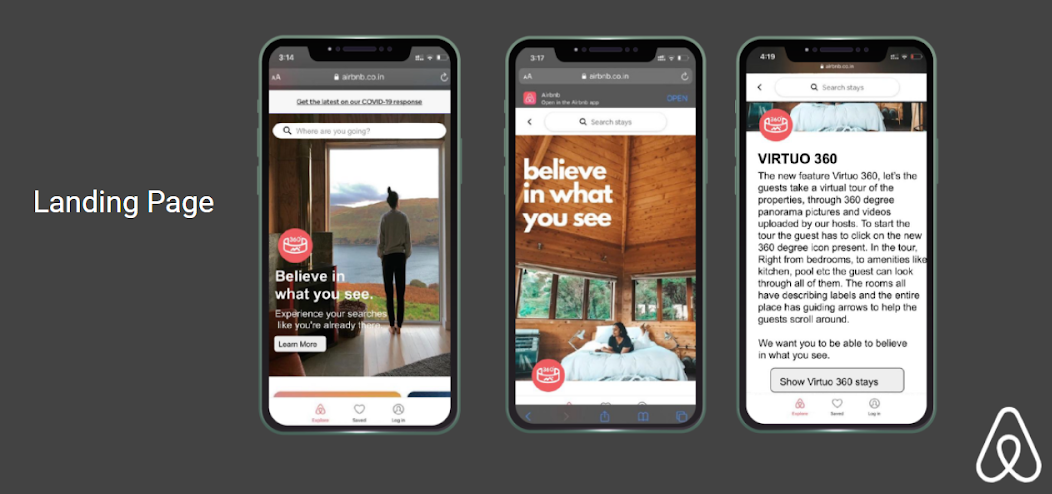 Airbnb case study Landing Page Website Portal
