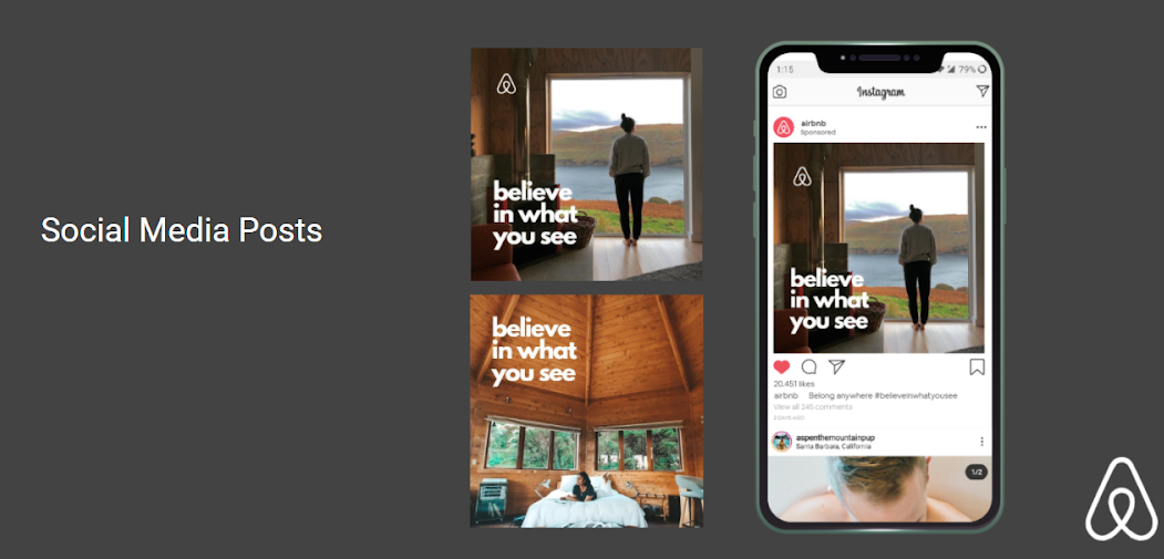 Airbnb case study Socail Media Post