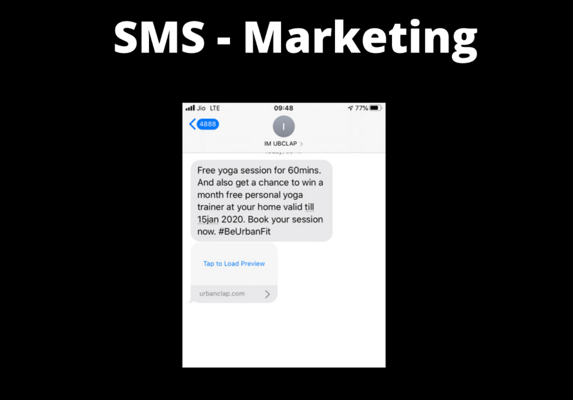 urbanclap marketing strategy SMS - Urban Company Marketing Strategy and Case Study