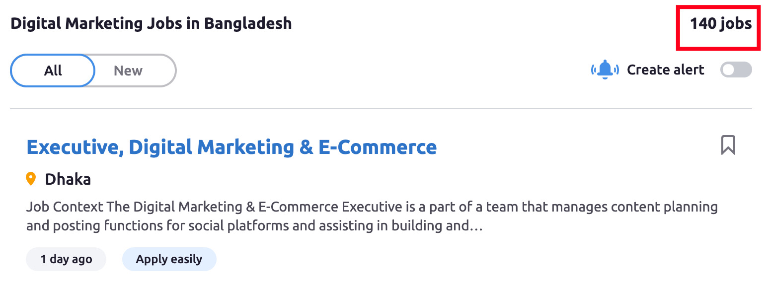 Digital Marketing Jobs in Bangladesh