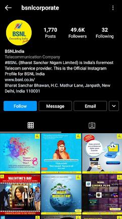 BSNL marketing strategy Instagram
