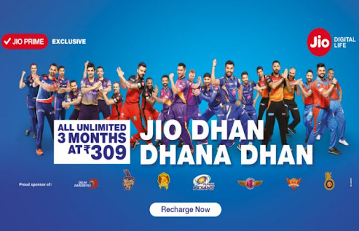 Case Study on Marketing Strategy of Reliance - Marketing campaigns - Reliance Jio