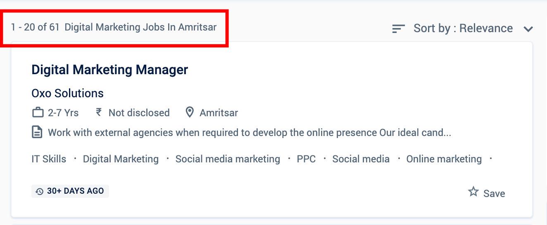 Digital Marketing Jobs in Amritsar