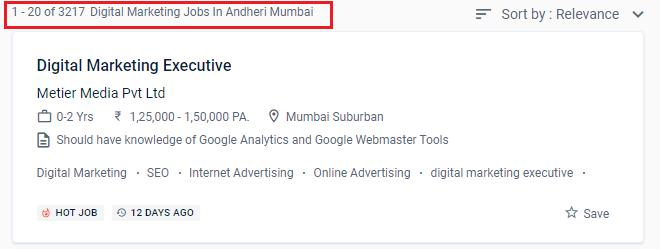 Digital marketing courses in andheri - Naukri stats