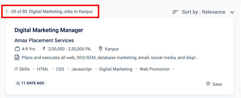 Digital Marketing Jobs in Kanpur