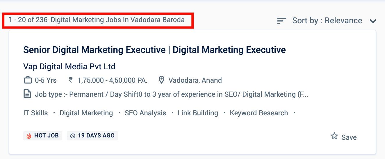 Digital Marketing Jobs in Vadodara