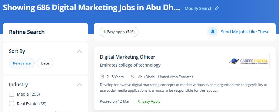digital marketing jobs in abu dhabi