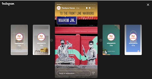 Asian Paints Marketing Strategy and Case Study - Asian Paints Digital Marketing Strategy - Instagram Stories