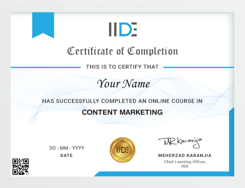 Content Marketing Course Online Certificate