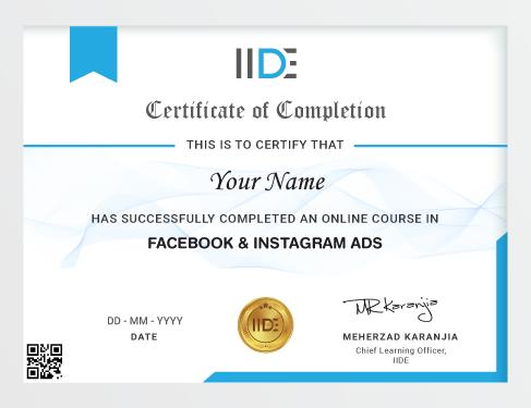 Facebook Ads Course - Certificate