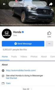 Honda Digital Marketing Strategy Case Study - Digital Presence of Honda - Facebook
