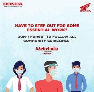 Honda Digital Marketing Strategy Case Study - Honda Social Media Marketing - Current Affairs - Marketing During Covid-19 Lockdown - ActiveIndia