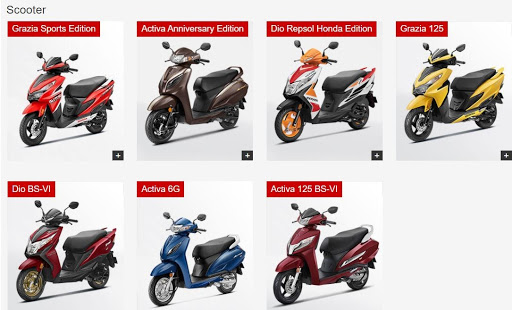 Honda Digital Marketing Strategy Case Study - Products under Scooters