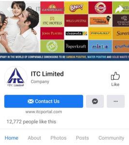 ITC Marketing Strategy and SWOT Analysis - ITC Digital Marketing Strategy - Facebook Profile