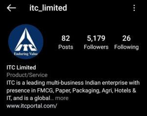 ITC Marketing Strategy and SWOT Analysis - ITC Digital Marketing Strategy - Instagram Profile