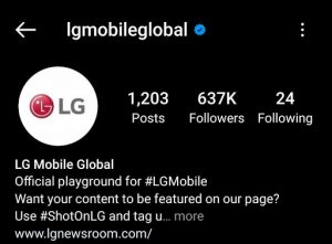 LG Marketing Strategy India Case Study - LG Competitor Analysis on Social Media Advertising Strategy - Instagram - LG