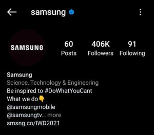 LG Marketing Strategy India Case Study - LG Competitor Analysis on Social Media Advertising Strategy - Instagram - Samsung