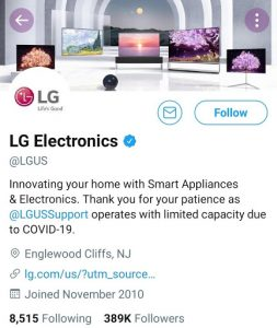 LG Marketing Strategy India Case Study - LG Competitor Analysis on Social Media Advertising Strategy - Twitter - LG