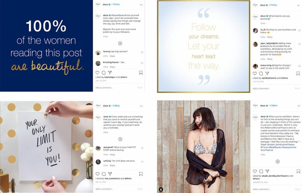 Marketing Strategies of Dove - How Dove Has Evolved - Empowering content
